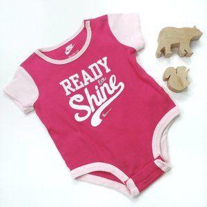 Nike Pink Onesie Size 3-6 Months
